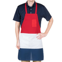 Red, White and Blue Bib Apron
