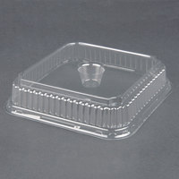 Genpak 95304 Clear Dome Lid for Genpak 55304 Dual Ovenable 4 Cup Plastic Muffin Pan 250 / Case