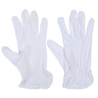 San Jamar 5312-WH-M Medium White Waiter's Gloves