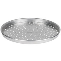 American Metalcraft HA4015P 15 inch x 1 inch Perforated Heavy Weight Aluminum Straight Sided Pizza Pan