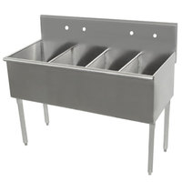 Advance Tabco 4-4-60 Four Compartment Stainless Steel Commercial Sink - 60 inch