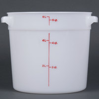 Cambro RFS6148 6 Qt. Round White Food Storage Container