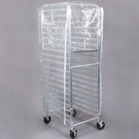 Bun Pan Rack Cover Clear Heavy Duty Plastic with 3 Zippers - 7.9 Mils