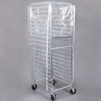 Bun Pan Rack Cover Clear Heavy Duty Plastic with 3 Zippers - 8 Mils
