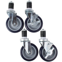 Regency 5 inch Work Table and Equipment Stand Swivel Stem Casters   - 4/Set