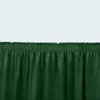 National Public Seating SS24-48 Green Shirred Stage Skirt for 24 inch Stage - 23 inch x 48 inch