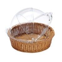 GET WB-1551-HY 15 1/2 inch x 4 1/4 inch Designer Polyweave Honey Round Basket - 12 / Case