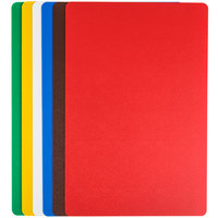 Tablecraft FCB1218A 12 inch x 18 inch Flexible Cutting Board Set - 6/Pack