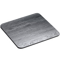 Cal-Mil 1522-44-65 Black 4 inch x 4 inch Square Slate Serving/Display Stone