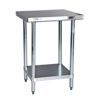 Regency 18 Gauge 30 inch x 30 inch 304 Stainless Steel Commercial Work Table with Undershelf