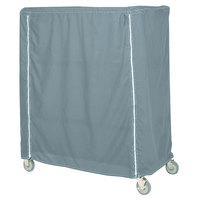 Metro 21X48X74CMB Mariner Blue Coated Waterproof Vinyl Shelf Cart and Truck Cover with Zippered Closure 21 inch x 48 inch x 74 inch