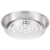 American Metalcraft SPA90101.5 10 inch x 1 1/2 inch Super Perforated Standard Weight Aluminum Tapered / Nesting Pizza Pan