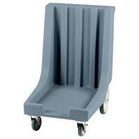 Cambro CD1826HB401 Slate Blue Camdolly with Rear Easy Wheels for 18 inch x 26 inch Trays - 80 Tray Capacity