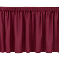 National Public Seating SS24-48 Burgundy Shirred Stage Skirt for 24 inch Stage - 23 inch x 48 inch