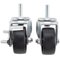 True 883720 3 inch Swivel Stem Casters - 4 / Set