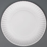 9 inch White Economy Paper Plate - 1000 / Case