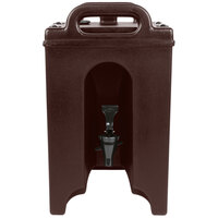 Cambro 100LCD131 Camtainer 1.5 Gallon Dark Brown Insulated Beverage Dispenser