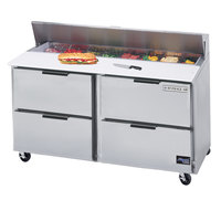 Beverage-Air SPED60-16-4 60 inch Four Drawers Refrigerated Salad / Sandwich Prep Table