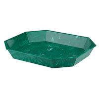 Carlisle 6725 5 lb  Green Marble-Look Low Profile Deli Crock