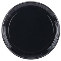 Sabert 9916 Onyx 16 inch Black Round Catering Tray - 36 / Case