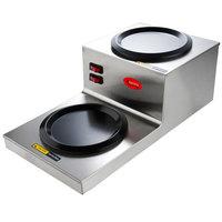 Avantco W53 Step Up Double Burner Decanter Warmer