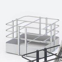 Cal Mil 1545-74 7 1/2 inch x 7 1/2 inch Silver Soho 4 Slot Metal Flatware Organizer