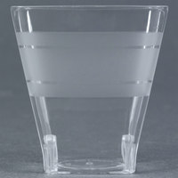 Fineline Wavetrends 1102 Clear Plastic Shot Glass 2 oz. - 432 / Case