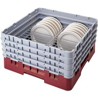 Cambro CRP4856416 Cranberry Full Size PlateSafe Camrack 5-6 inch