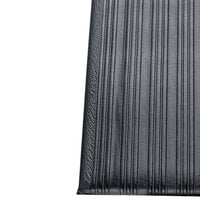 Ribbed Black Tredlite Vinyl Anti-Fatigue Mat 24 inch Wide - 5/8 inch Thick