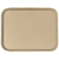 Cambro 1418FF104 14 inch x 18 inch Desert Tan Customizable Fast Food Tray - 12/Case