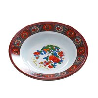 Peacock 5 oz. Round Melamine Soup Plate - 12 / Pack