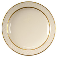 Homer Laughlin 1420-0344 Westminster Gothic Off White 6 1/4 inch Narrow Rim Plate - 36/Case