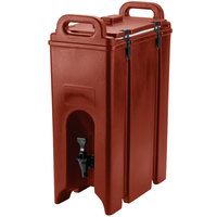 Cambro 500LCD402 Brick Red 4.75 Gallon Camtainer Insulated Beverage Dispenser