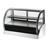 Vollrath 40857 60 inch Curved Glass Heated Countertop Display Cabinet