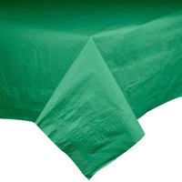 Hoffmaster 220429 54 inch x 54 inch Cellutex Jade Tissue / Poly Paper Table Cover - 50 / Case