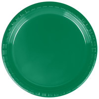 Creative Converting 28112011 7 inch Emerald Green Plastic Plate - 240 / Case