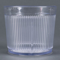 Carlisle 402907 Clear Crystalon Stack-All SAN Tumbler 9 oz.   - 12/Case