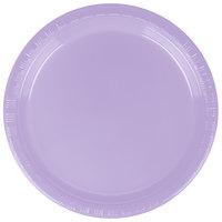 Creative Converting 28193011 7 inch Luscious Lavender Purple Plastic Plate - 240/Case
