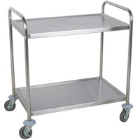 Choice 33 3/4 inch x 21 inch x 37 inch Knocked Down 18 Gauge Stainless Steel 2 Shelf Utility Cart