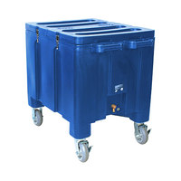 Blue Ice Caddy 200 lb. Mobile Ice Bin / Beverage Merchandiser
