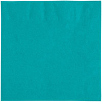 "Choice 10"" x 10"" Customizable Teal 2-Ply Beverage / Cocktail Napkins - 1000/Case"