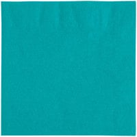 Choice 10 inch x 10 inch Customizable Teal 2-Ply Beverage / Cocktail Napkins - 1000/Case