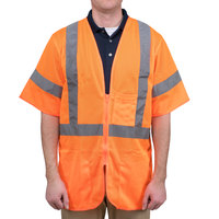 Orange Class 3 High Visibility Safety Vest - XL