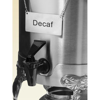 Coffee Chafer Name Plate - Decaf