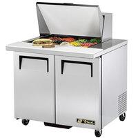 True TSSU-36-12M-B 36 inch Mega Top 2 Door Sandwich / Salad Prep Refrigerator