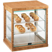 Cal-Mil 284-S-60 Three Tier Bamboo Display Case with Dual Front Doors - 21 inch x 16 1/4 inch x 22 1/2 inch