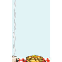8 1/2 inch x 14 inch Menu Paper - Diner Theme Left Insert - 100 / Pack
