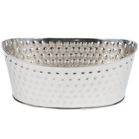 Tablecraft BT2013 Bali Oval Stainless Steel Beverage Tub - 20 inch x 13 inch x 9 inch