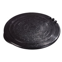 Carlisle 070003 Black Hinged Replacement Lid for 0710 7 inch Tortilla Servers - 12 / Case