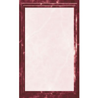 8 1/2 inch x 14 inch Menu Paper - Burgundy Marble Border - 100/Pack